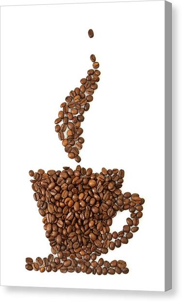 Coffee Grains Canvas Print