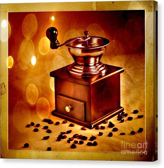 Coffee Grinder 3 Canvas Print by Donald Davis
