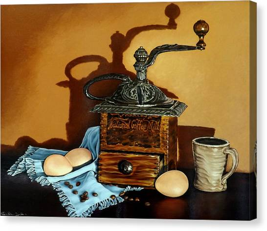 Coffee Grinder Canvas Print