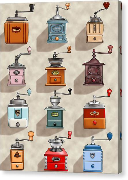 Coffee Grinder Wall Canvas Print