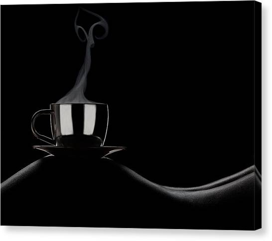 Fine Art Nudes Canvas Print - Coffee In Bed by Dmitriy Batenko