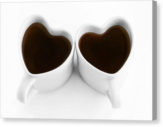Coffee Lovers Canvas Print by Dan Holm