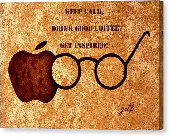 Coffee Lovers Quote 2 Canvas Print
