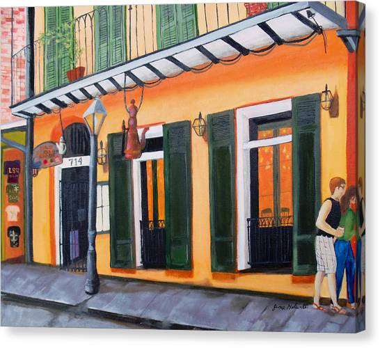 Coffee Pot Restaurant-french Quarter Canvas Print