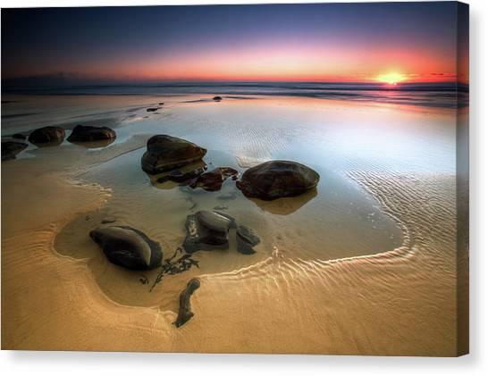 Sunset Horizon Canvas Print - Coffee Rocks by Mel Brackstone