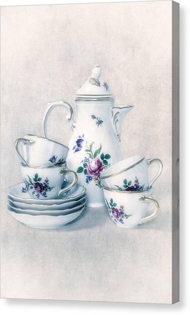 Tea Set Canvas Print - Coffee Set by Joana Kruse