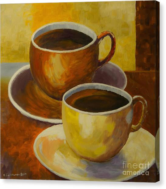 Coffee Canvas Print - Coffee Time by Veikko Suikkanen