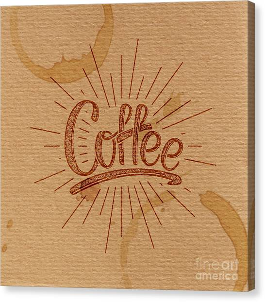 Decoration Canvas Print - Coffee. Vector Illustration. Lettering by Maximmmmum