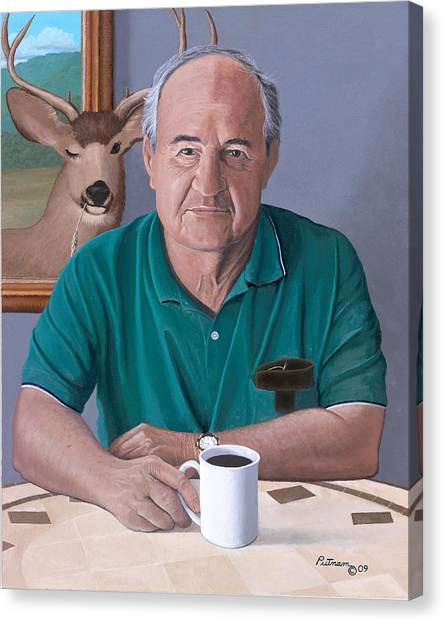 Coffee With Bob Friend Of Nature Canvas Print