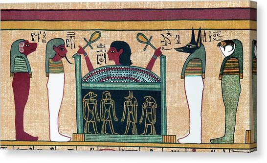 Coffin Of Osiris Canvas Print by Sheila Terry/science Photo Library
