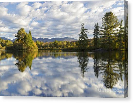 Canvas Print featuring the photograph Coffin Pond - Sugar Hill, New Hampshire by Erin Paul Donovan