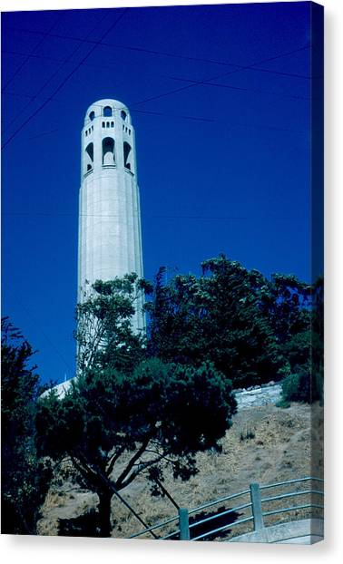 Coit Tower 1955 Canvas Print by Cumberland Warden