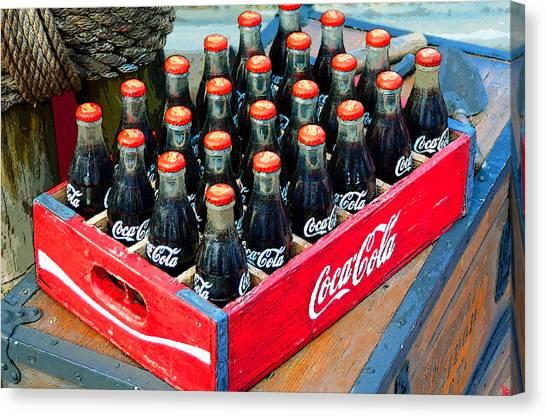 Soda Canvas Print - Coke Case by David Lee Thompson