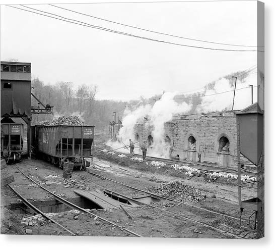Oven Canvas Print - Coke Ovens by Library Of Congress