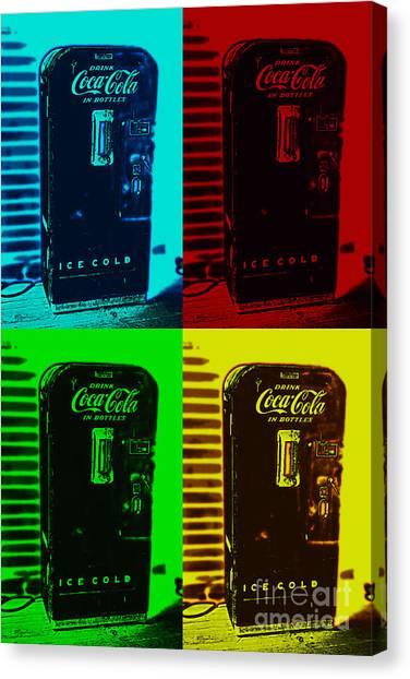 Coke Poster Canvas Print
