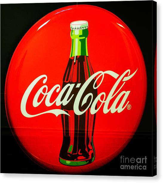 Coke Top Canvas Print