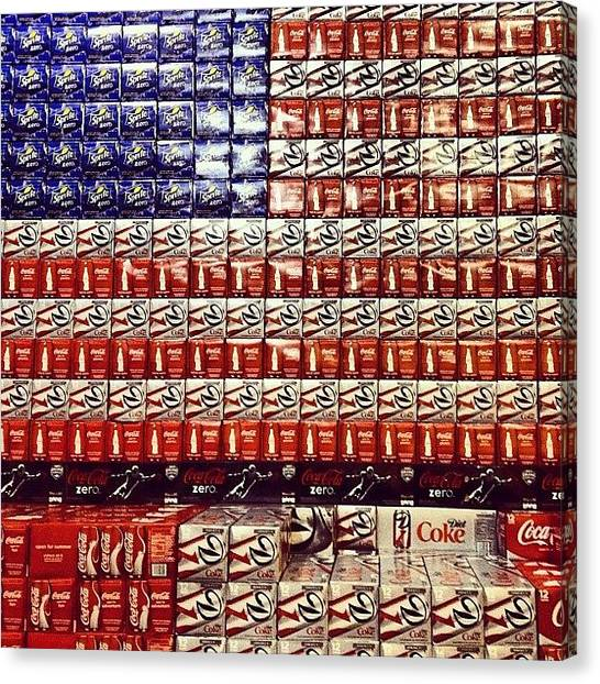 Sprite Canvas Print - #coke #usaflag #sprite #america by CnTell CnTell