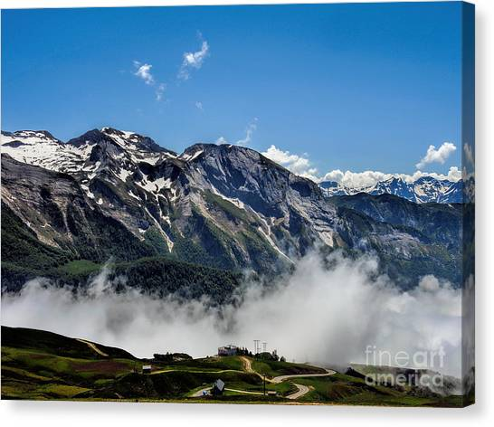 Col D Aubisque France - 03 Canvas Print by Graham Taylor