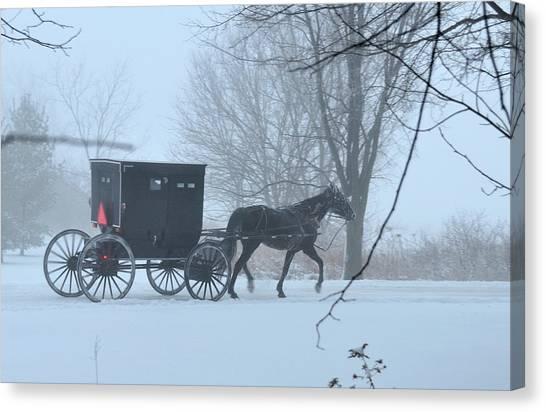 Cold Amish Morning Canvas Print