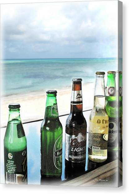 Cold Beers In Paradise Canvas Print