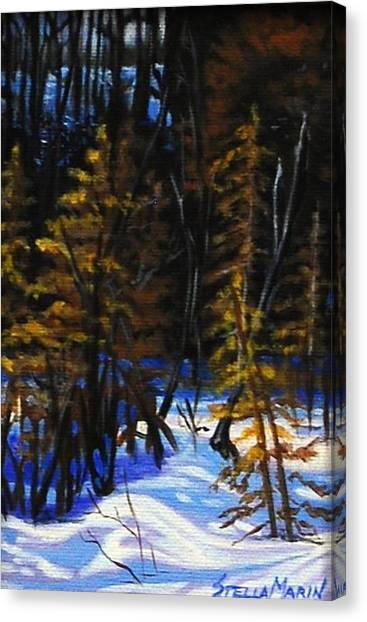 Cold Crisp Morning Canvas Print