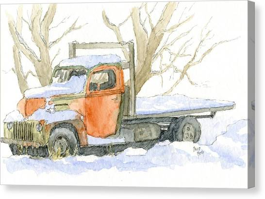 Cold Ford Canvas Print