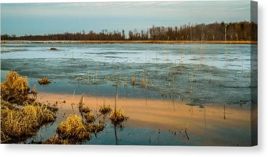 Cold Lake Canvas Print by Bruno Santos