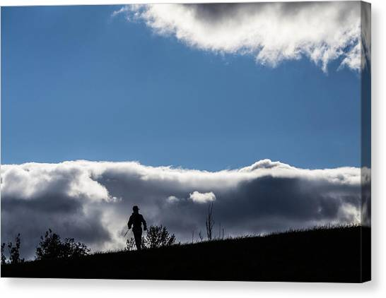 Cold Morning Hike Canvas Print