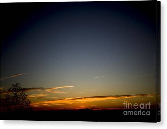 Cold Morning Sunrise Canvas Print