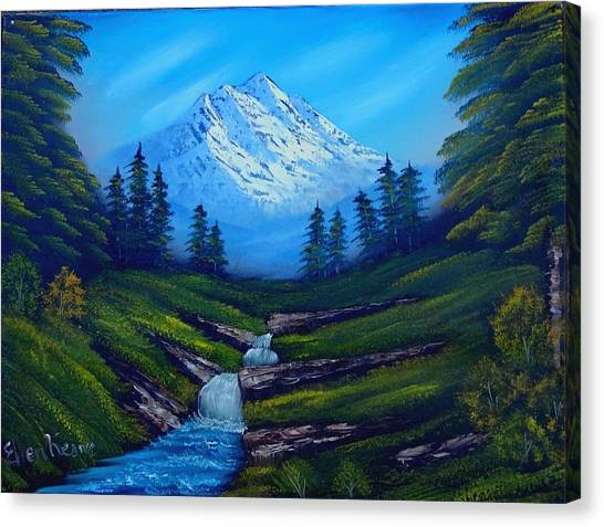 Cold Mountain Canvas Print by Fineartist Ellen