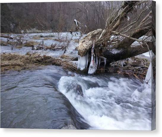 Cold River  Canvas Print by Kiara Reynolds