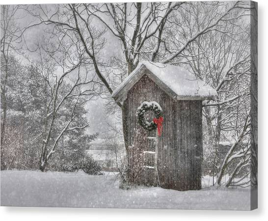 Wreath Canvas Print - Cold Seat by Lori Deiter