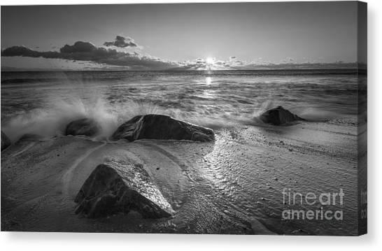 Mv Canvas Print - Cold Sunrise Bw by Michael Ver Sprill