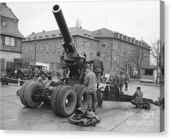 High School Canvas Print - Cold War American Artillery In West Germany by The Harrington Collection