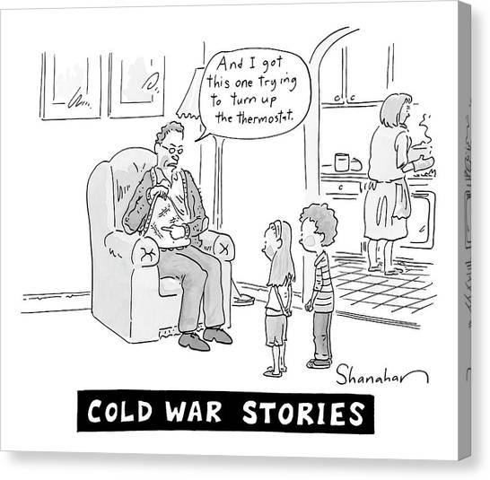 Cold War Canvas Print - Cold War Stories. An Old Man Shows Children Scars by Danny Shanahan
