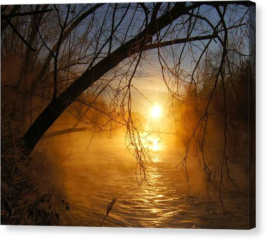 Cold Water Sunrise Canvas Print
