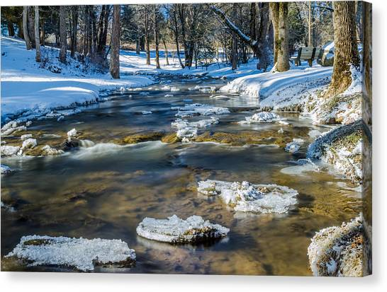 Cold Winter Creek Canvas Print