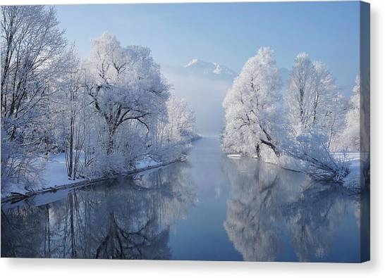 Frost Canvas Print - Coldest Morning by Norbert Maier