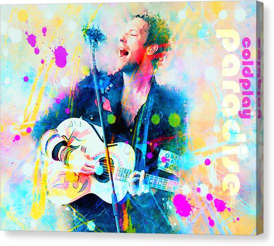 Coldplay Canvas Print - Coldplay Paradise by Rosalina Atanasova