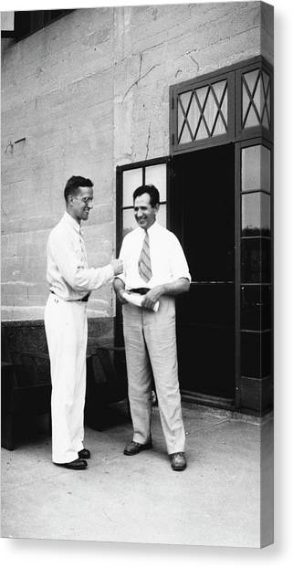 Cole And Claude Canvas Print by American Philosophical Society