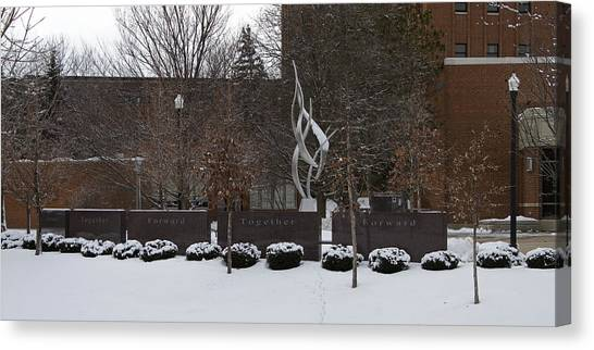 Northern Illinois University Canvas Print - Cole Hall Memorial - Niu by Eric Mace