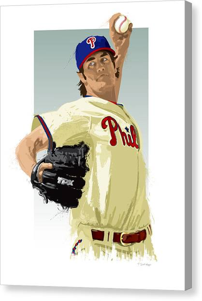 Cole Hamels Canvas Print