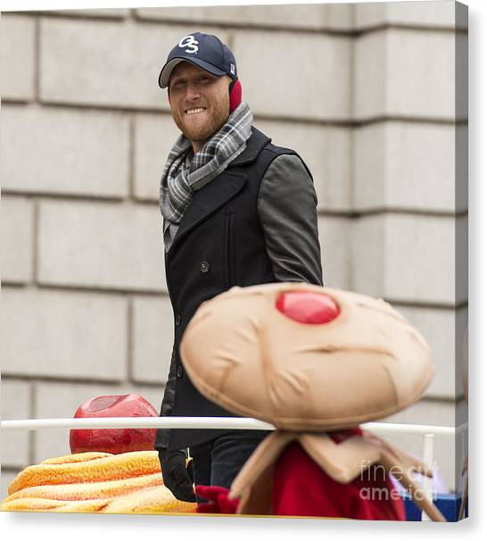 Macys Parade Canvas Print - Cole Swindell At Macy's Thanksgiving Day Parade by David Oppenheimer