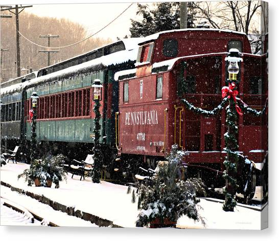 Colebrookdale Railroad In Winter Canvas Print