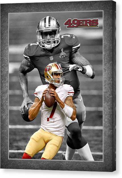 San Francisco 49ers Canvas Print - Colin Kaepernick 49ers by Joe Hamilton