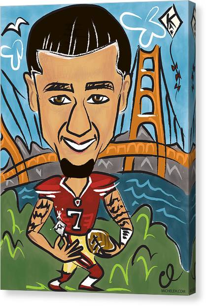Kappa Alpha Psi Canvas Print - Colin Kaepernick - Achievement by Micheleh Center