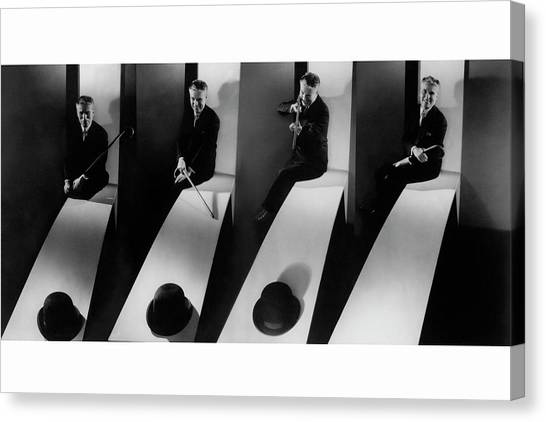 Collage Of Charlie Chaplin Canvas Print