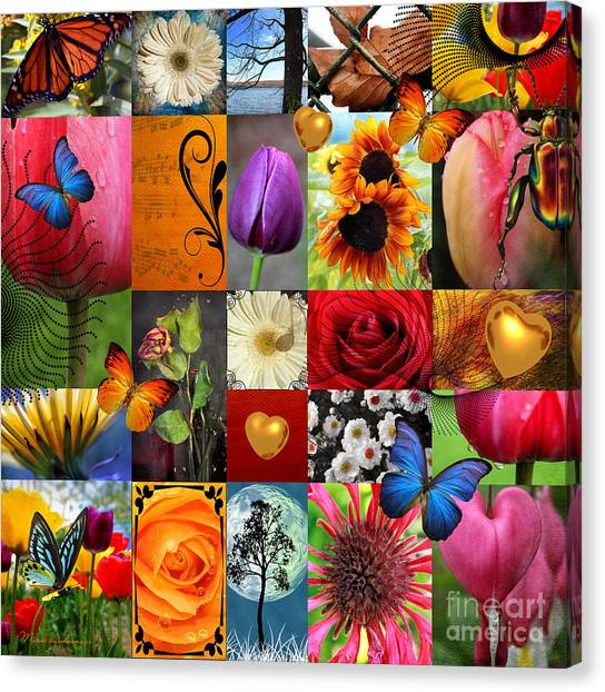 Romanticism Canvas Print - Collage Of Happiness  by Mark Ashkenazi