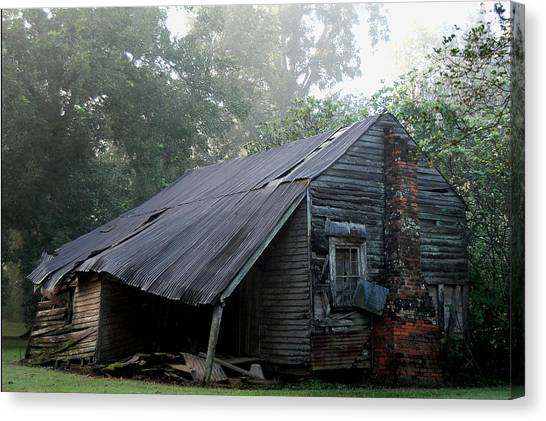 Collapsed Canvas Print by Larry Primeaux