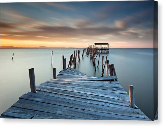 Sunset Horizon Canvas Print - Collapsed by Rui David